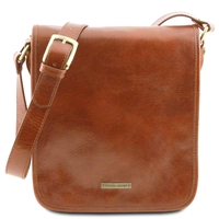 Tuscany Leather TL141255 Men's Messenger Bag - Small - Honey