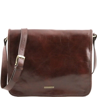 Tuscany Leather TL141254 Men's Messenger Bag - Large - Brown