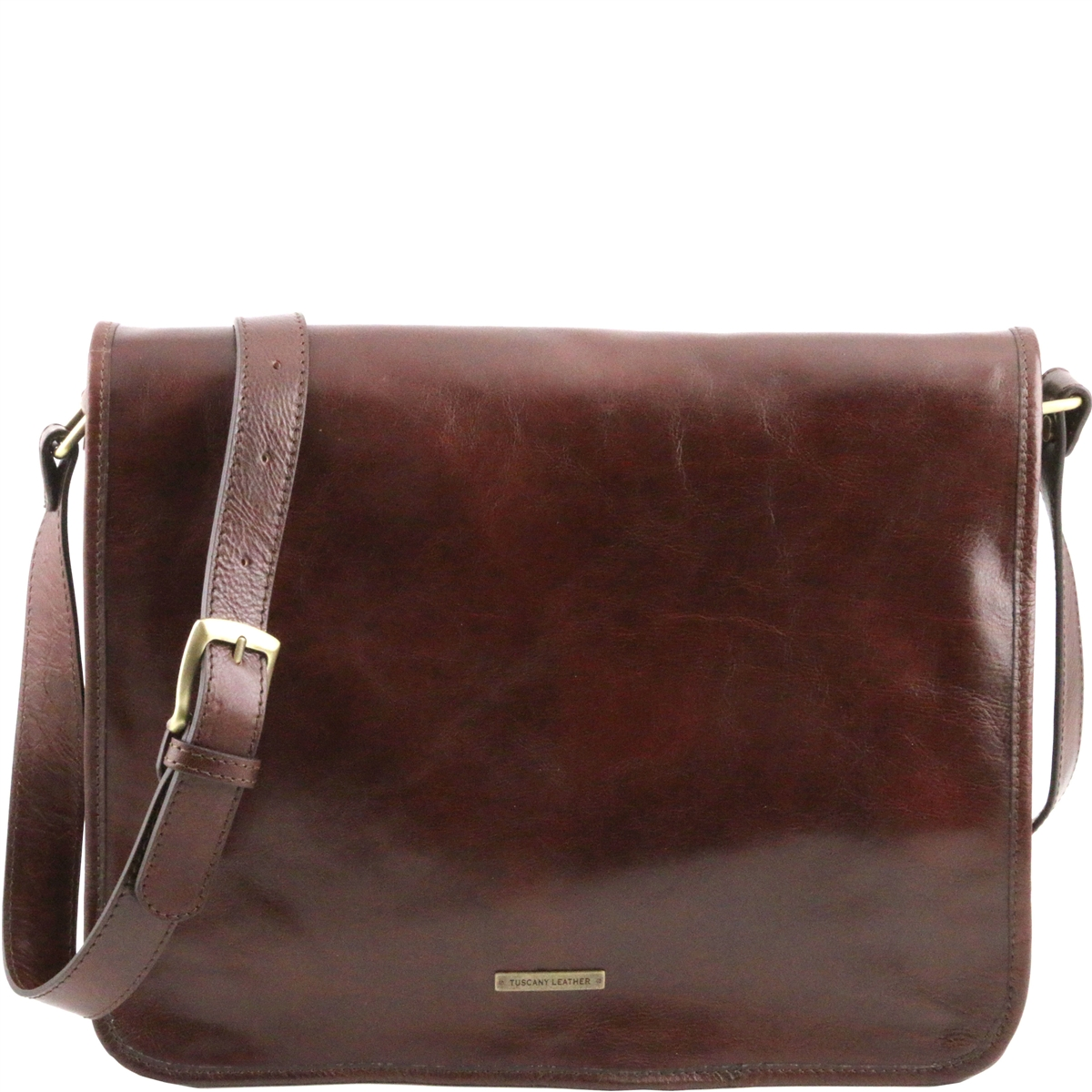 ae6147a132 Tuscany Leather TL141254 Men s Messenger Bag - Large - Brown
