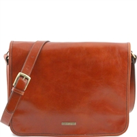 Tuscany Leather TL141254 Men's Messenger Bag - Large - Honey