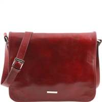 Tuscany Leather TL141254 Men's Messenger Bag - Large - Red