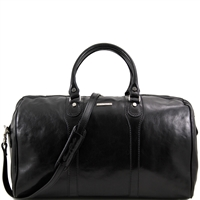 Tuscany Leather Oslo TL1044 Travel leather duffle bag - Weekender bag - Black