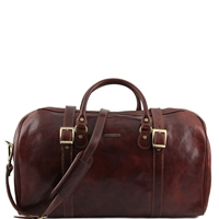 Tuscany Leather Berlin TL1013 Large leather duffel travel bag - Brown