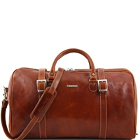 Tuscany Leather Berlin TL1013 Large Travel leather duffel bag - Honey