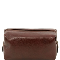 Tuscany Leather Smarty TL141220 - Small Leather Toilet Bag - Brown