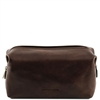 Tuscany Leather Smarty TL141220 - Small Leather Toilet Bag - Black