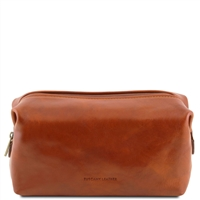 Tuscany Leather Smarty TL141220 - Small Leather Toilet Bag - Honey