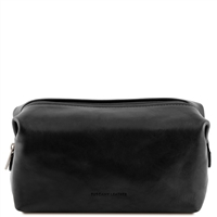TL141220 Tuscany Leather Smarty Leather Toiletry Bag Small Black