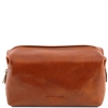 Tuscany Leather Smarty TL141219 - Large Leather Toilet Bag - Honey