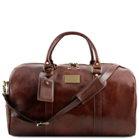 Tuscany Leather TL141247 Voyager Travel Bag - Dark Brown