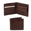 Tuscany Leather TL140761 Leather Wallet for Men - Dark Brown