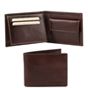 Tuscany Leather TL140763 Leather Wallet for Men - Dark Brown