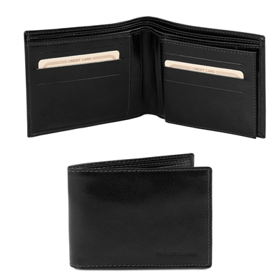 Tuscany Leather TL140817 Leather Wallet for Men - Black