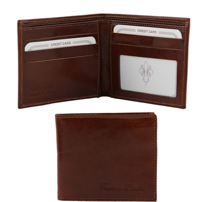 Tuscany Leather TL140778 Leather Wallet for Men - Brown