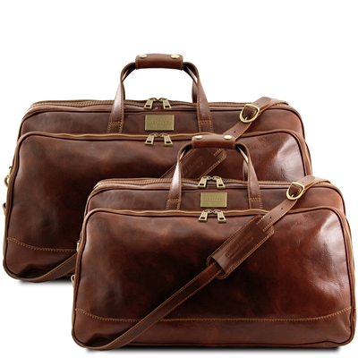 Tuscany Leather TL3072 Bora Bora Leather Travel Set