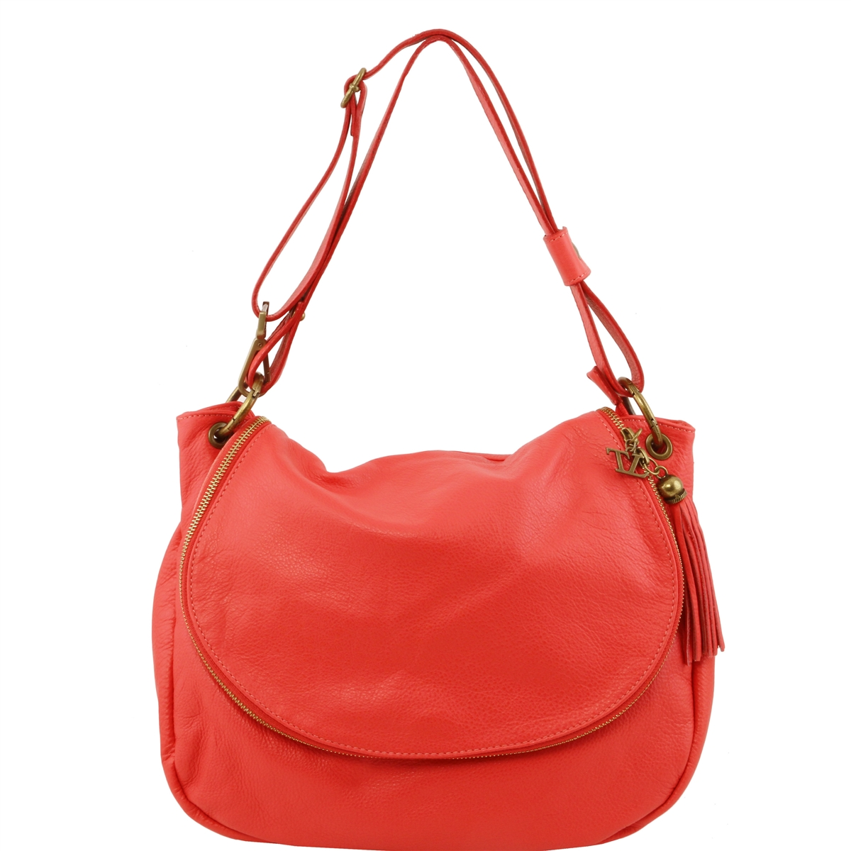 2b6ba24d1cb4 Tuscany Leather TL141110 Shoulder Bag - Coral