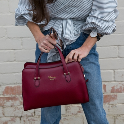 Lucia Tumbled Leather Handbag on Instagram
