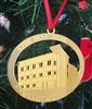 Gym and Commons Brass Christmas Ornament