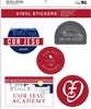Cor Jesu Scenic 5-Sticker Pack