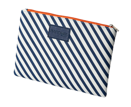 Striped Cosmetic Pouch