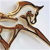 Charlene, Horse in Flowing Motion, Lapel Pin