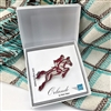 Show Jumper, Horse in Jumping Motion, Brooch, Rider, Equine graphic design