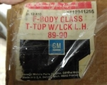 1986 - 1992 Firebird T-Top, Glass with Larger Big 3/4 Pin Style Mounting, Original GM NOS, Left Hand