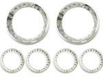 Custom Billet Gage Bezel Dash Pak 2 3-3/8 and 4 2-1/16 Polished or Brushed