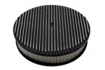 1967 - 1992 Firebird Air Cleaner Assembly, Round Open Element, BLACK ALUMINIUM FULL FINNED