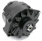 1967 - 1981 NEW Custom BLACK Alternator, 100 Amp, 1 Wire or 3 Wire