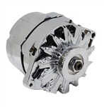 1967 - 1981 NEW Custom Firebird CHROME PLATED Alternator, 100 Amp, 1 Wire or 3 Wire