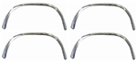 1969 Firebird Wheel Well Lip Opening Chrome Trim Moldings, Set of 4