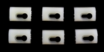 1970-1981 Top of Door Chrome Reveal Molding Clips Set