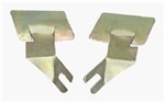 1967 - 1969 Firebird Windshield Chrome Molding Lower Outer Corner Gold Clips, Pair