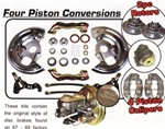 1967 - 1968 Firebird Brake Conversion Kit, Power Front Disc, OE Style with 4 Piston Calipers