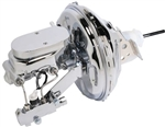"1967 - 1969 Firebird Chrome Plated 11"" Power Brake Booster Kit w/ Prop Valve and Master Cylinder"
