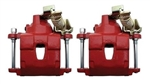 1968 - 1981 Firebird RED Rear Disc Brake Conversion Replacement Calipers, Pair