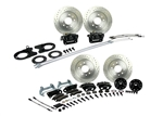 1967-1969 Basic 4 Wheel Disc Brake Conversion Kit Stock Height Staggered