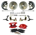 1967 - 1969 Wilwood & Right Stuff FRONT Power Disc Brake Conversion Kit, RED