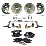 1967 - 1969 Wilwood FRONT Power Disc Brake Conversion Kit, BLACK