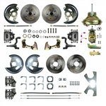 1968 - 1969 Firebird Street Anchors FRONT and REAR, 4 Wheel Power Disc Brake Conversion Kit