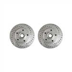 1970 - 1978 Firebird Drilled and Slotted Front Disc Brake Rotors, Pair