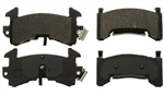 1982 - 1992 Firebird Front Disc Brake Pads Set, Single Piston w/out Performance Package, OE Semi-Metallic