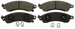 1982 - 1992 Firebird Front Disc Brake Pads Set, Four Piston with Performance Package, OE Semi-Metallic