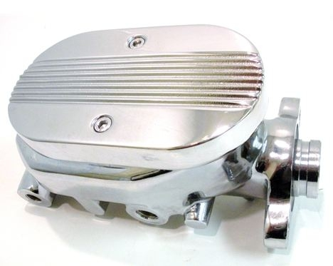 1967 - 1981 Firebird Ribbed Top CHROME Master Cylinder for Power Brakes