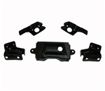 1969 Firebird and Trans Am Rear Bumper Mounting Bracket Set, Five Pieces