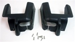 1987 - 1992 Convertible Upper Door Jam Seat Belt Pillar Caps, Pair