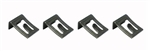 1967-1968 Convertible Top Switch Mounting Clip Set