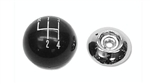 1967-1968 Shift Knob Black/Chrome 5/16
