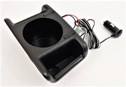 1970 - 1981 Firebird Rear Seat Center Console Cup Holder Conversion with (2) USB Charging Ports for Ashtray Plastic Bezel Receiver, 9790514